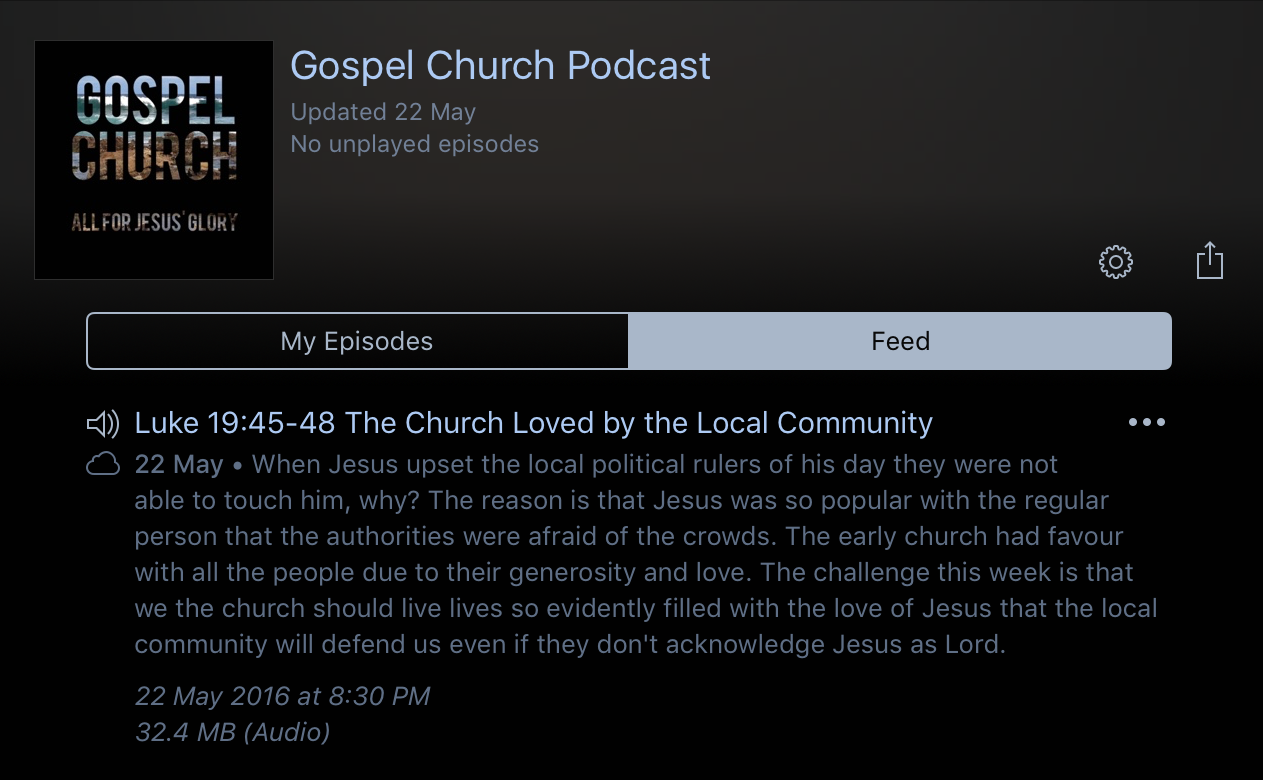 Gospel Church Podcast